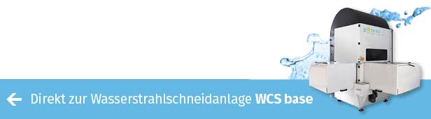 Wasserstrahlschneidtechnik für exakte Kanten – das günstige Einstiegsmodell WCS base von gKteso
