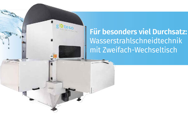 Wasserstrahlschneidmaschine - Waterjet Cutting System (WCS) integrated